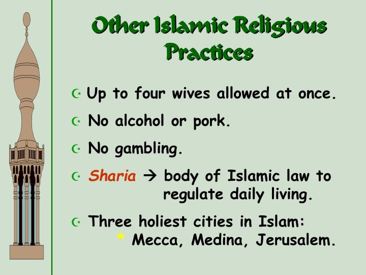 Other Islamic Religious Practices
