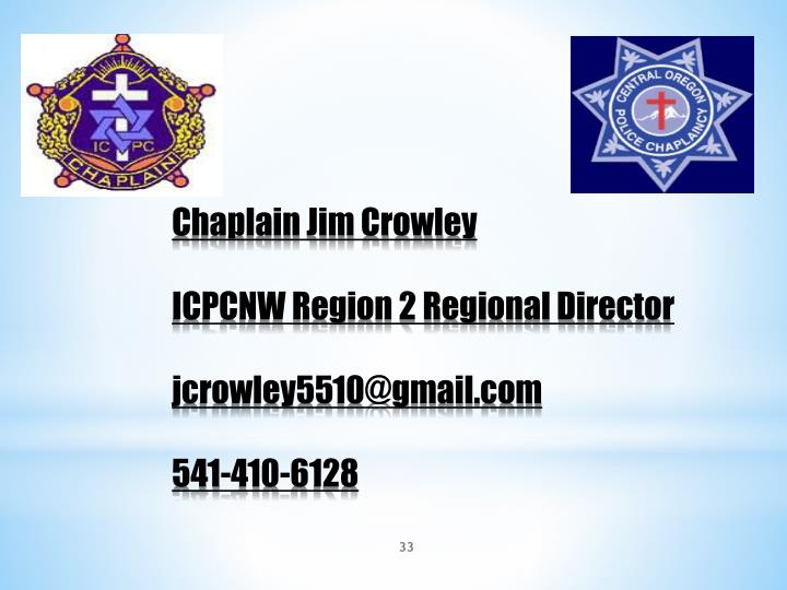Chaplain Jim Crowley