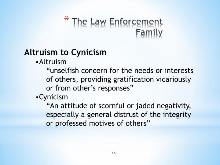 Altruism to Cynicism