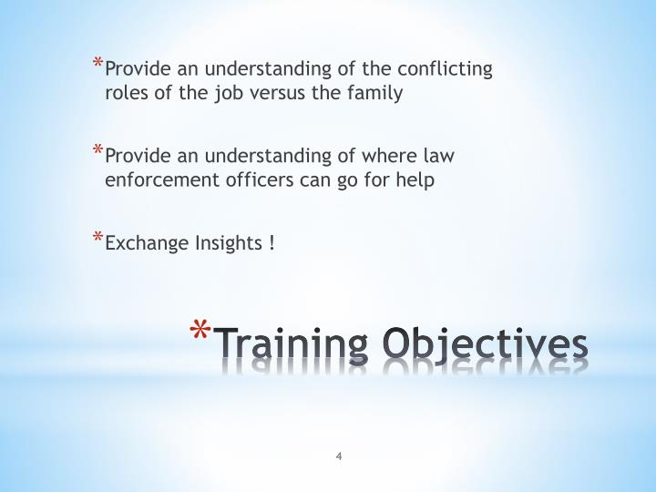 Provide an understanding of the conflicting roles of the job versus the family