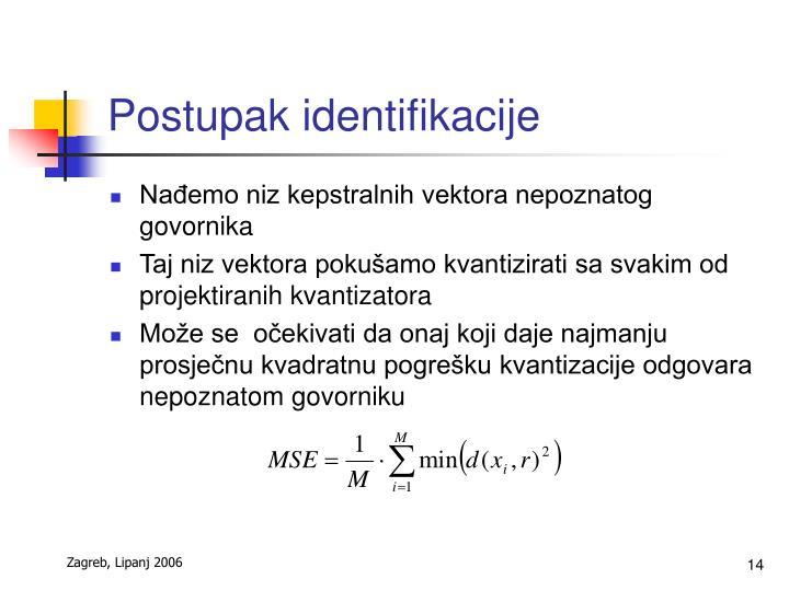 Postupak identifikacije