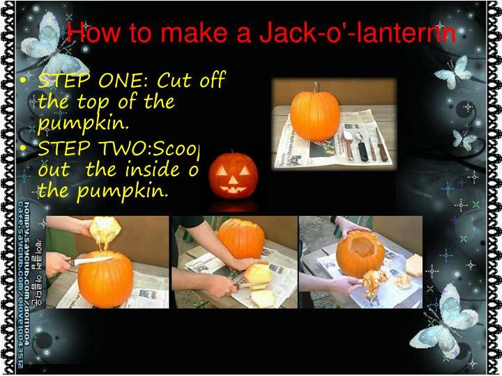 How to make a Jack-o'-lantern