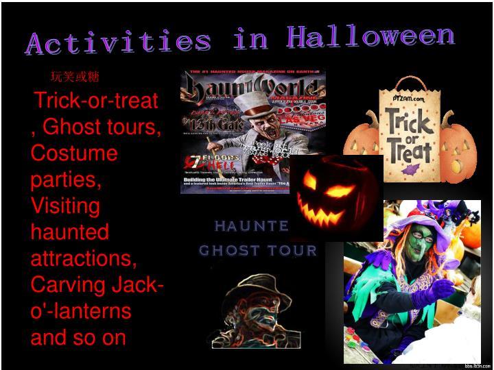 Activities in Halloween