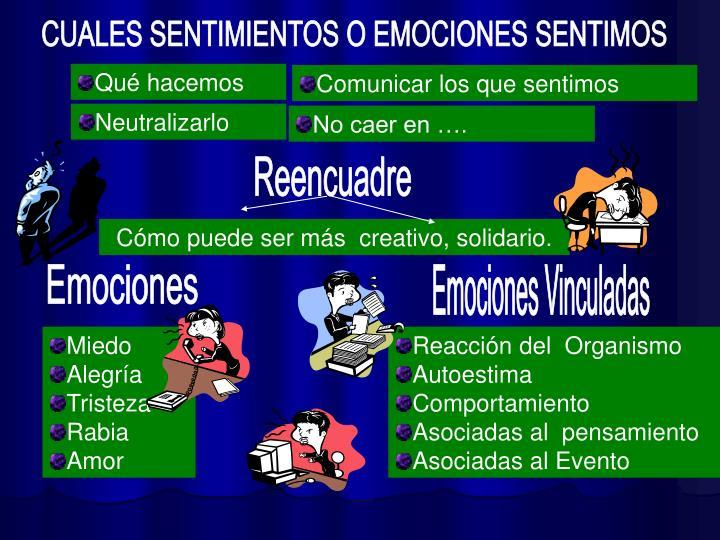 CUALES SENTIMIENTOS O EMOCIONES SENTIMOS