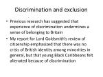 discrimination and exclusion