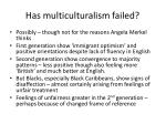 has multiculturalism failed
