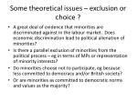 some theoretical issues exclusion or choice
