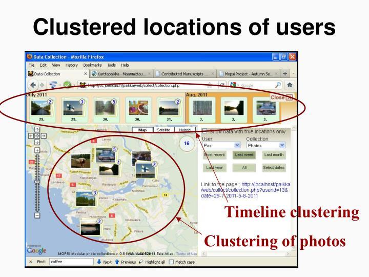 Timeline clustering
