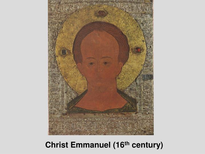 Christ Emmanuel (16