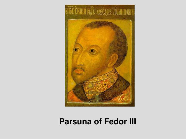 Parsuna of Fedor III