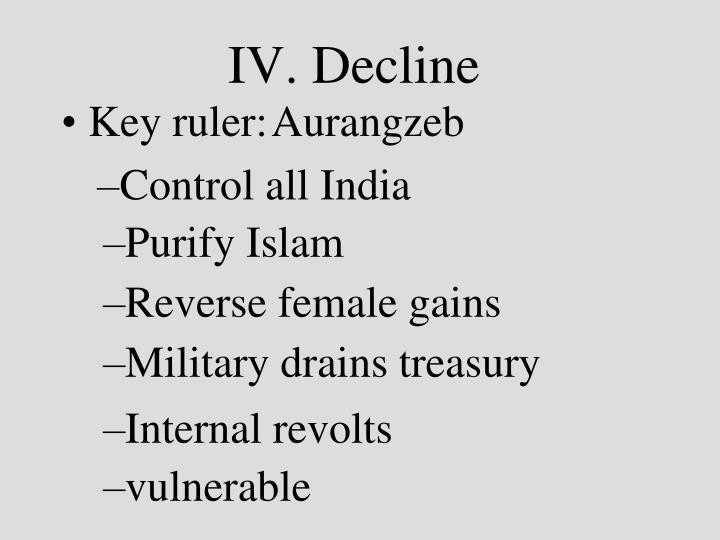 IV. Decline