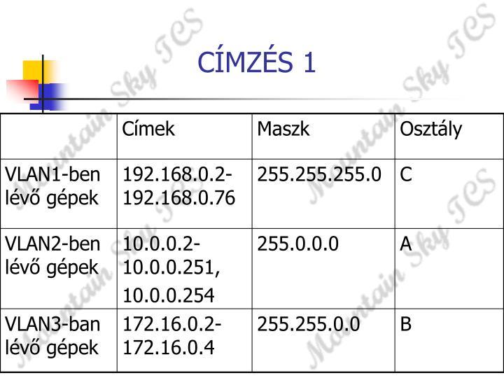CÍMZÉS 1
