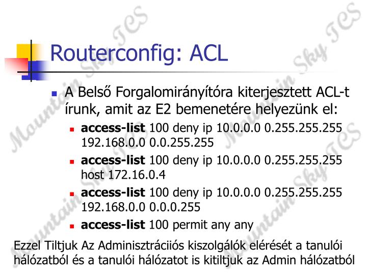 Routerconfig: ACL
