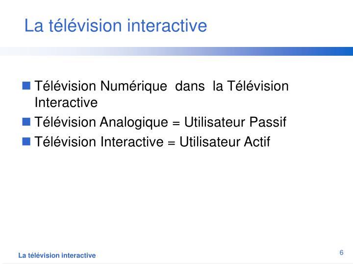 La télévision interactive
