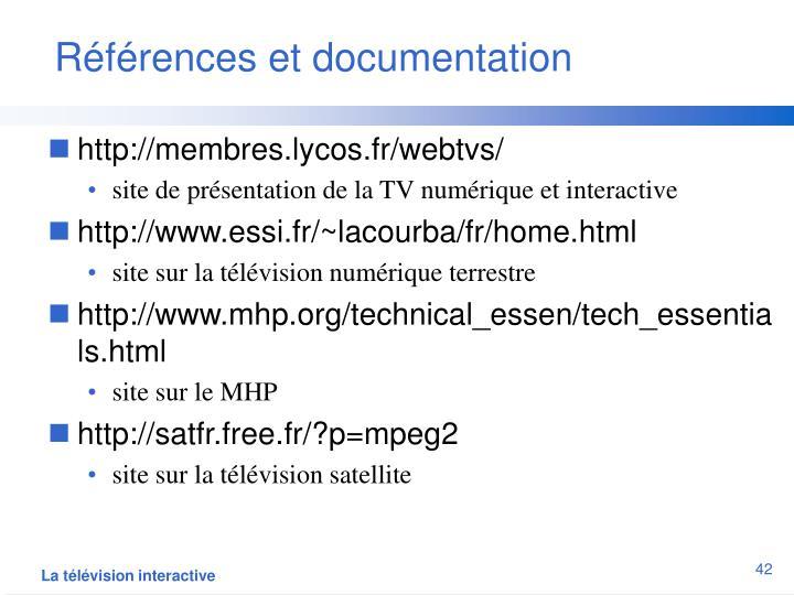 Références et documentation