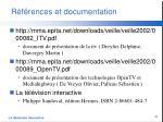 r f rences et documentation3