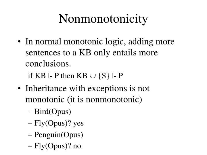 Nonmonotonicity