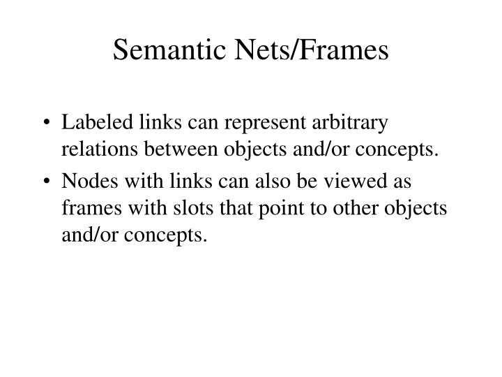 Semantic Nets/Frames