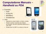 computadores manuais handheld ou pda