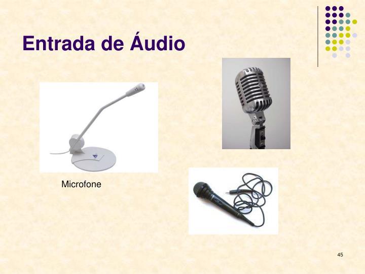 Entrada de Áudio