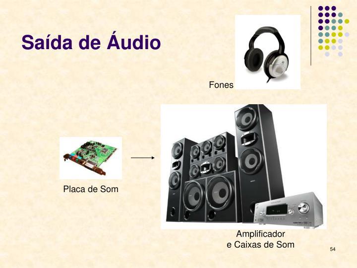Saída de Áudio