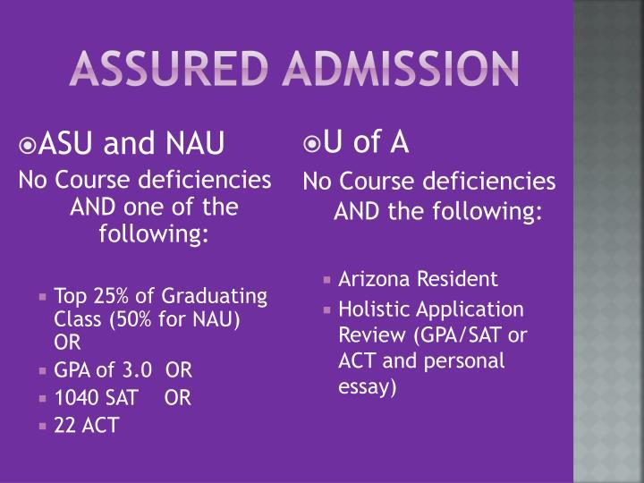 Assured Admission