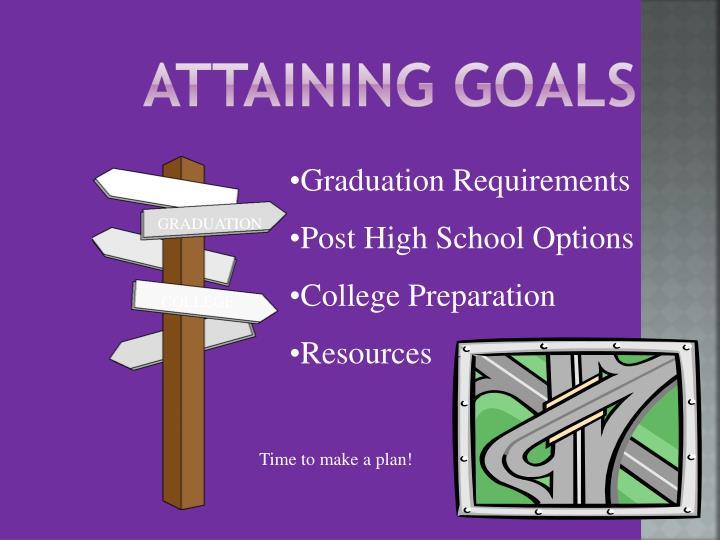ATTAINING GOALS