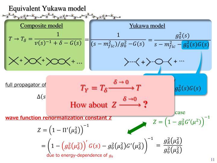 Equivalent Yukawa model