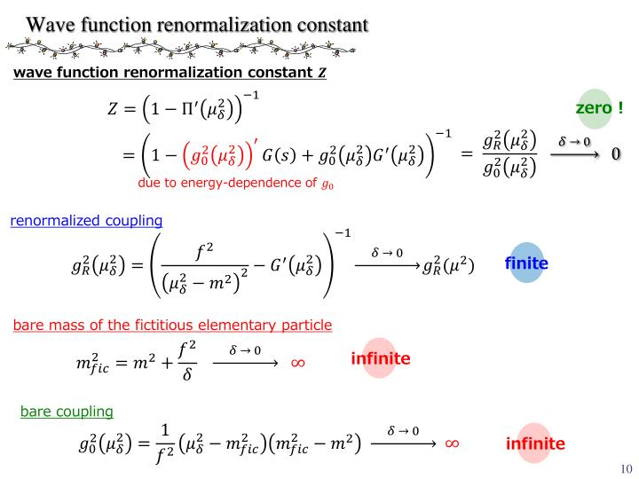 Wave function renormalization constant