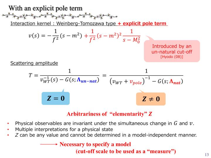 With an explicit pole term