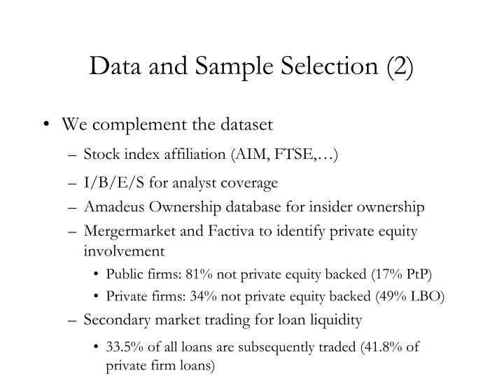 Data and Sample Selection (2)