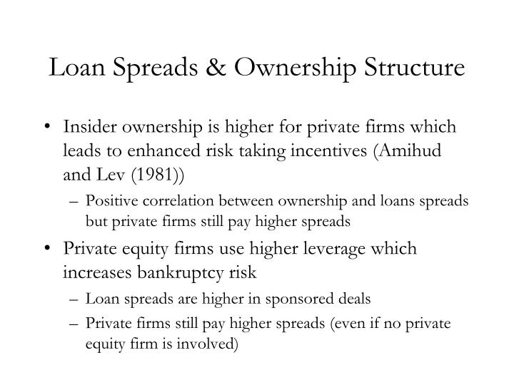 Loan Spreads & Ownership Structure