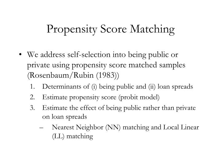 Propensity Score Matching