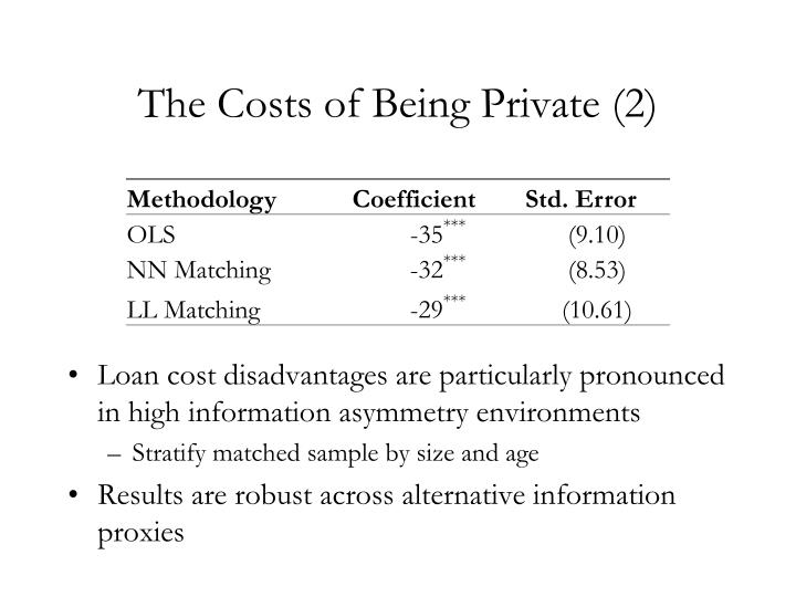 The Costs of Being Private (2)