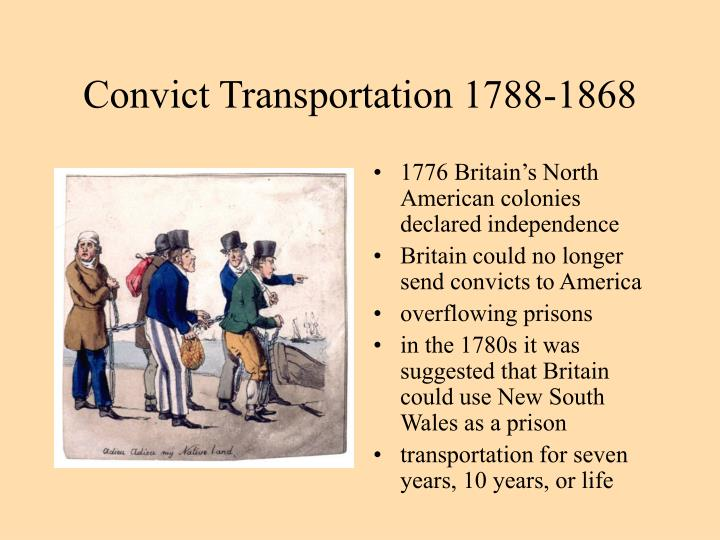 Convict Transportation 1788-1868