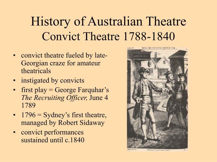 History of Australian Theatre