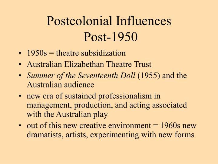 Postcolonial Influences