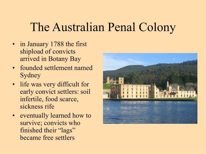 The Australian Penal Colony