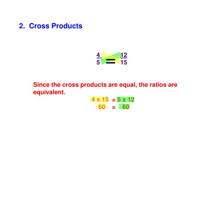 2.  Cross Products