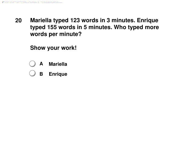 Mariella typed 123 words in 3