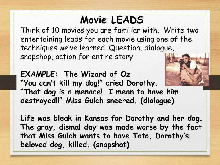 Movie LEADS