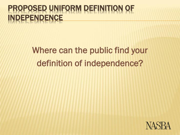 Where can the public find your