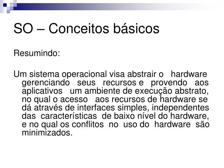 SO – Conceitos básicos