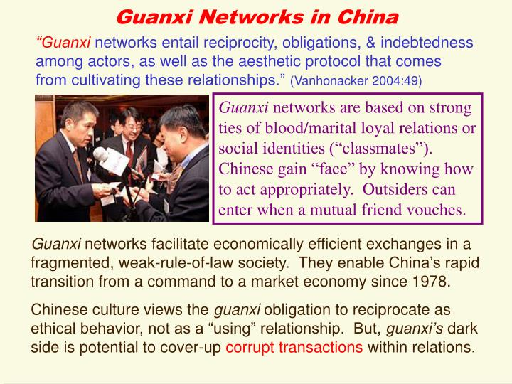 Guanxi Networks in China