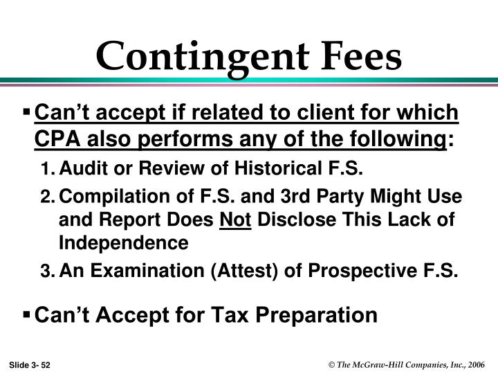 Contingent Fees