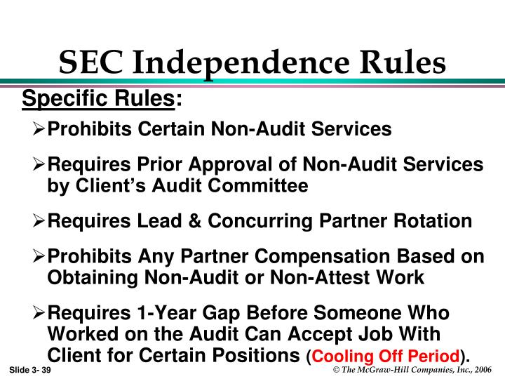 SEC Independence Rules
