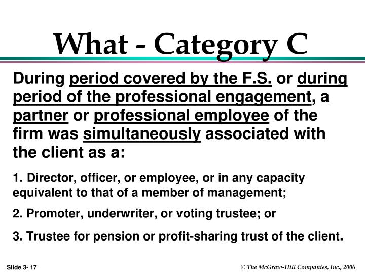 What - Category C