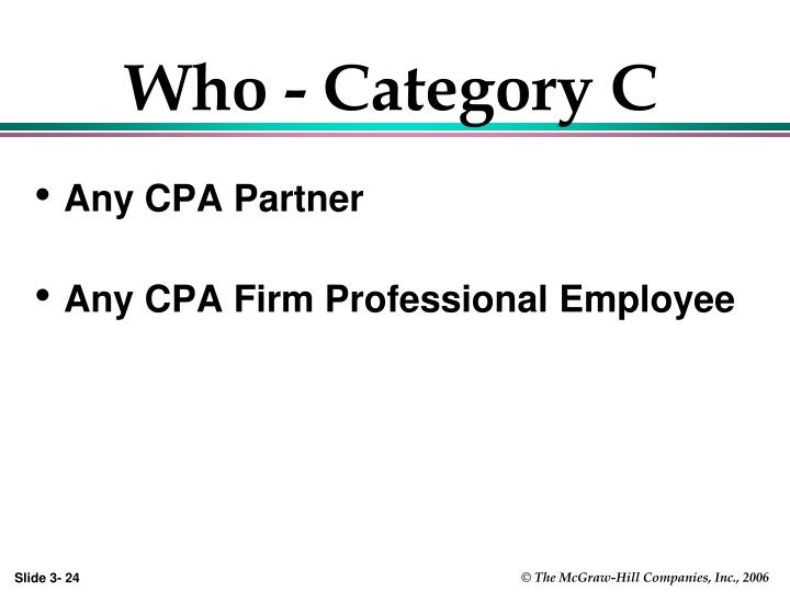 Who - Category C