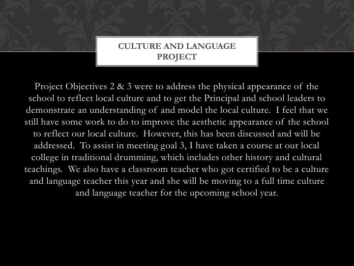Culture and language project1