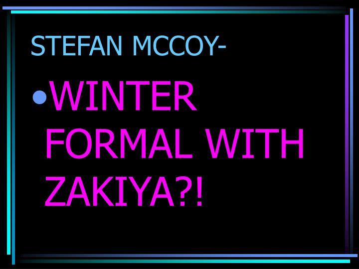 STEFAN MCCOY-
